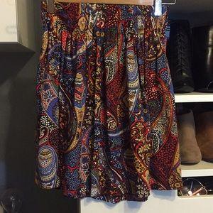 Cute paisley printed skirt